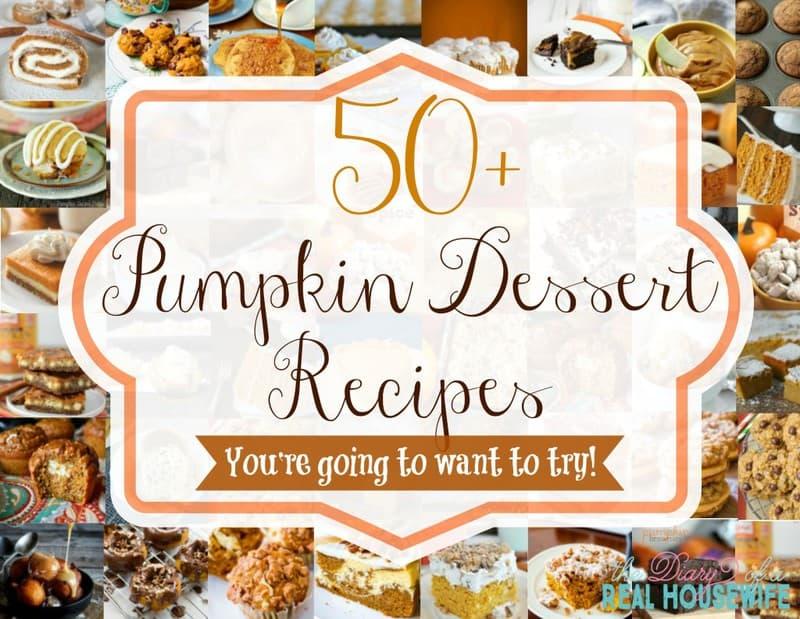 50+ Pumpkin Dessert Recipes
