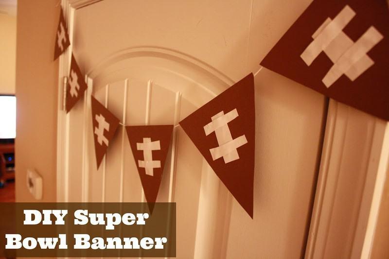 DIY Super Bowl Banner