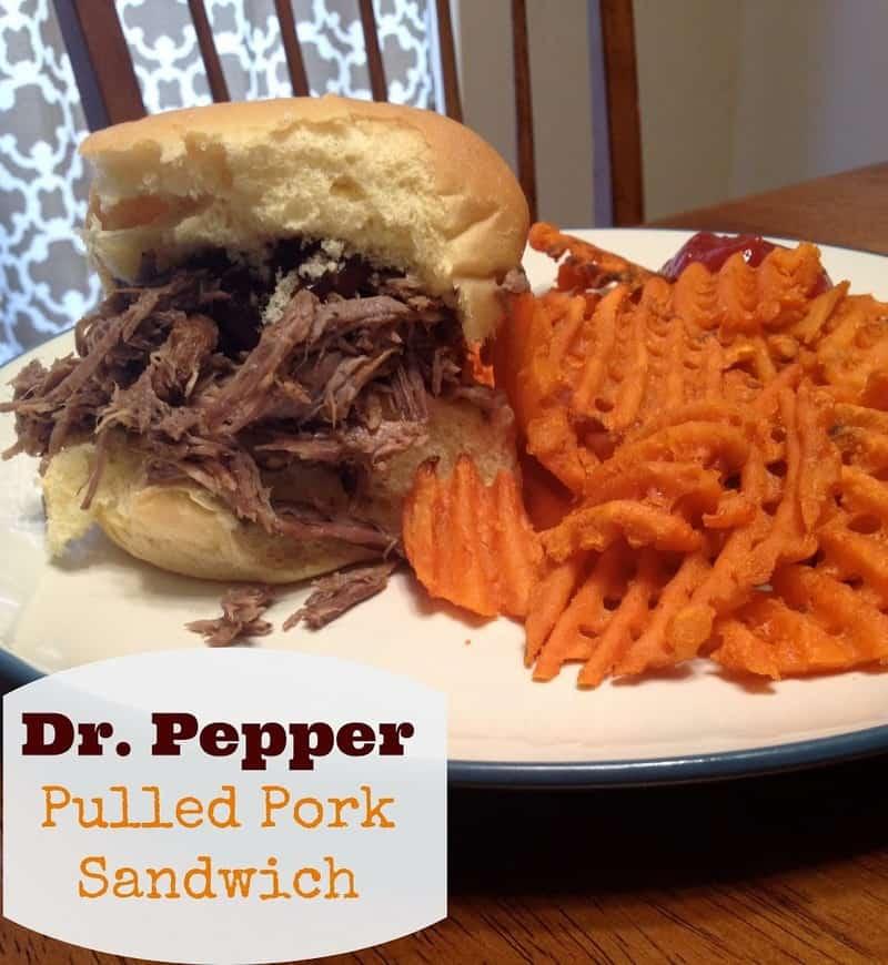 Dr. Pepper Pulled Pork Sandwich