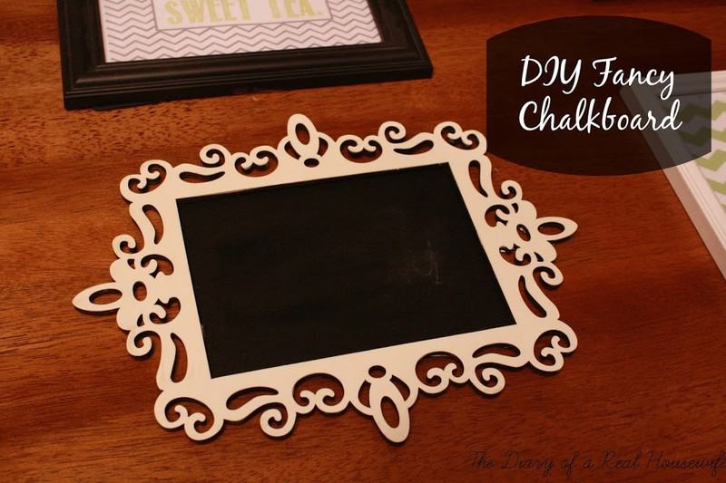 DIY Fancy Framed Chalkboard