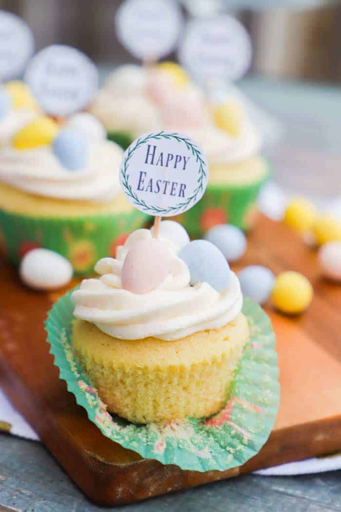 Vanilla Easter Cupcakes with Vanilla Butter Cream Frosting