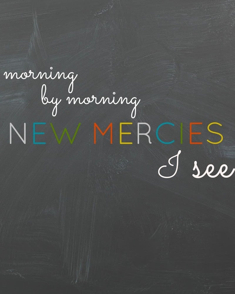 Free Printable – Morning by Morning New Mercies I See
