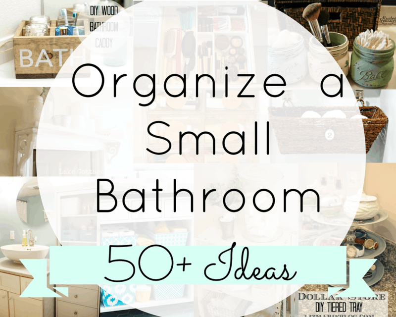 How To Organize A Small Bathroom organizing a small bathroom - the diary of a real housewife