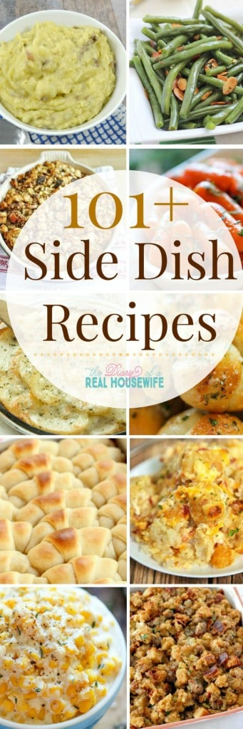101 plus side dish recipe roundups collage for Pinterest