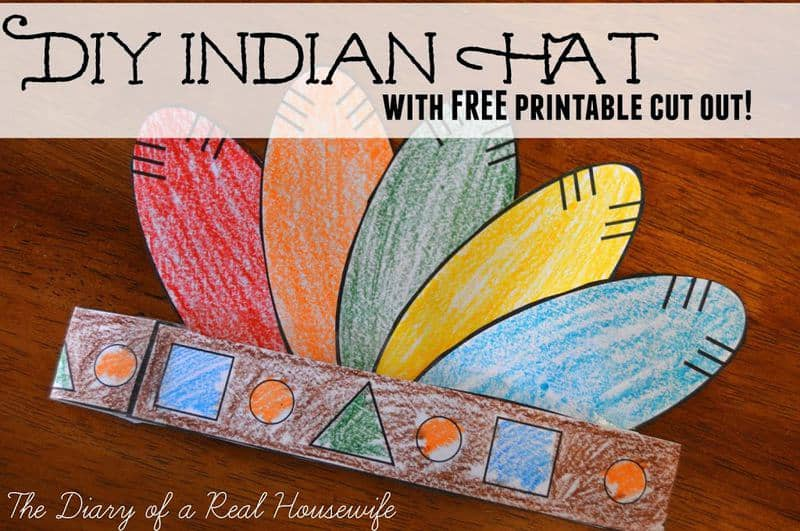 diy indian hat with free printable cut out