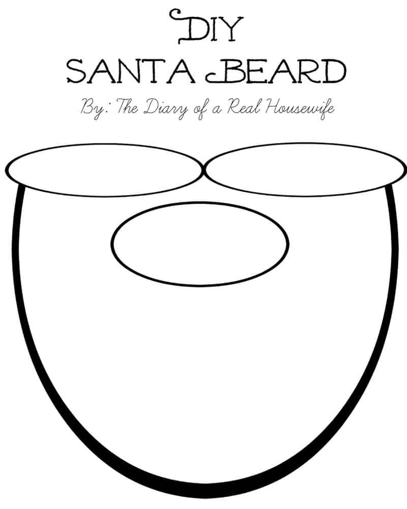 diy santa beard with free printable the diary of a real housewife