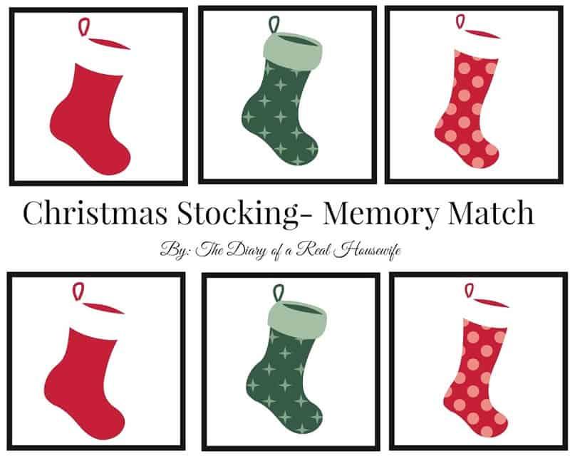 free printable christmas memory match christmas stockings - Printable Christmas Stockings