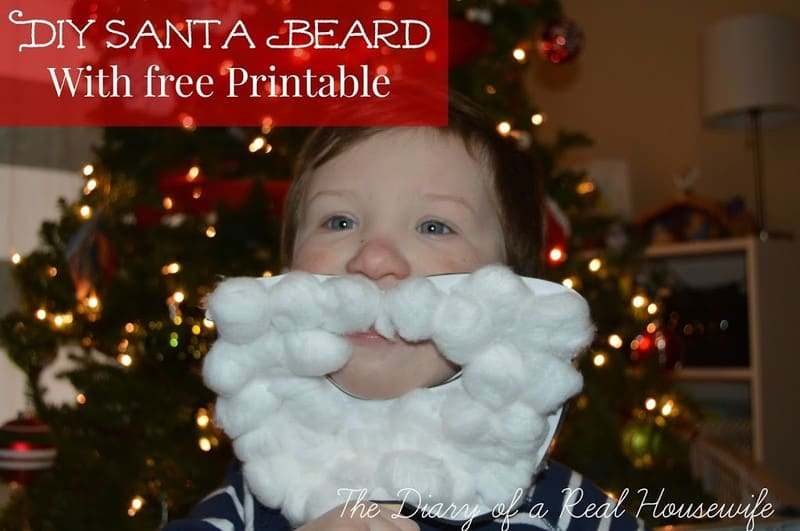 DIY Santa Beard – With Free Printable