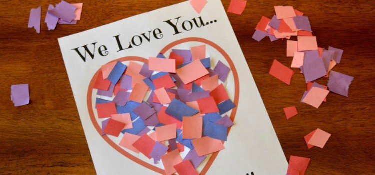 Love You to Pieces Valentines Day Craft – Free Printable