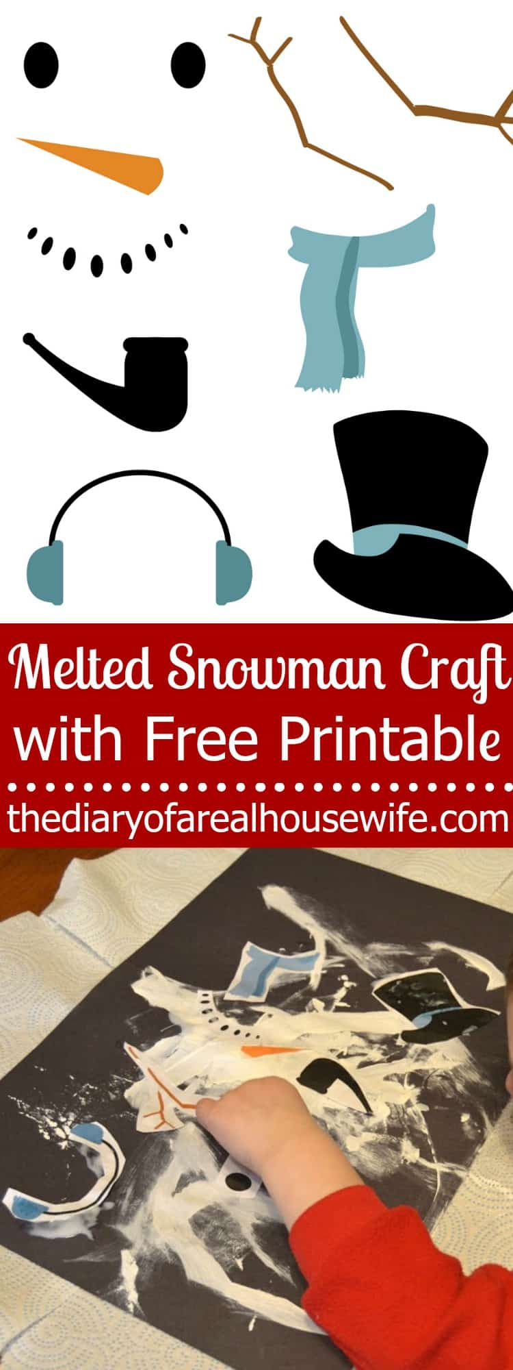 melted-snowman-craft-with-free-printable