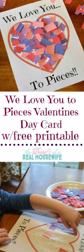 We loved this fun Valentines day craftcard! Free printable so you can make your own!