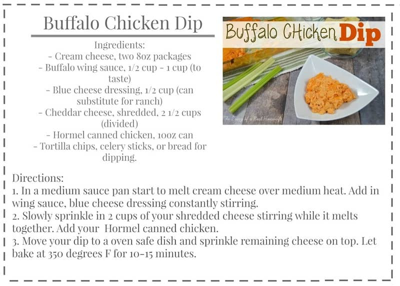 real buffalo chicken wing dip