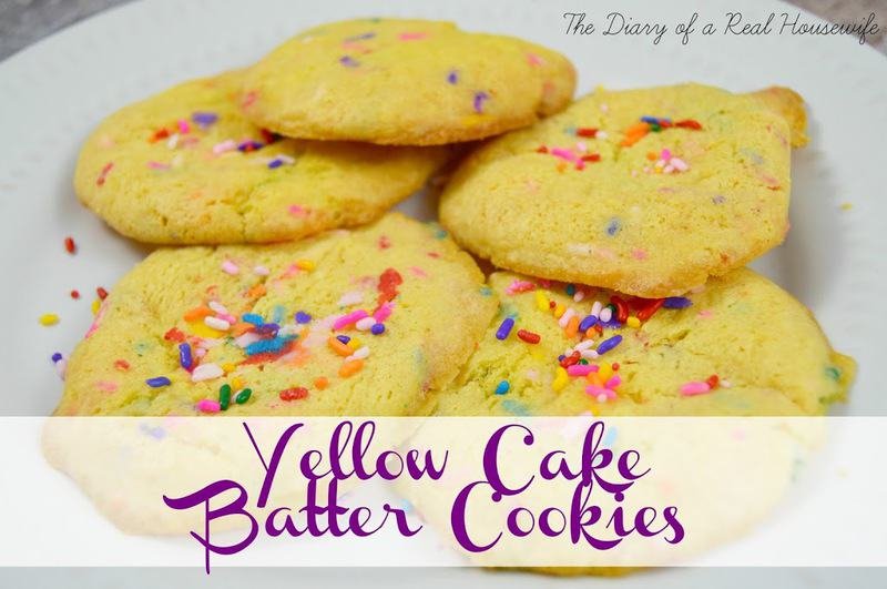 Yellow Cake Batter Cookies The Diary Of A Real Housewife