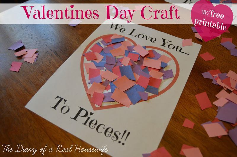 love you to pieces valentines day craft free printable the diary