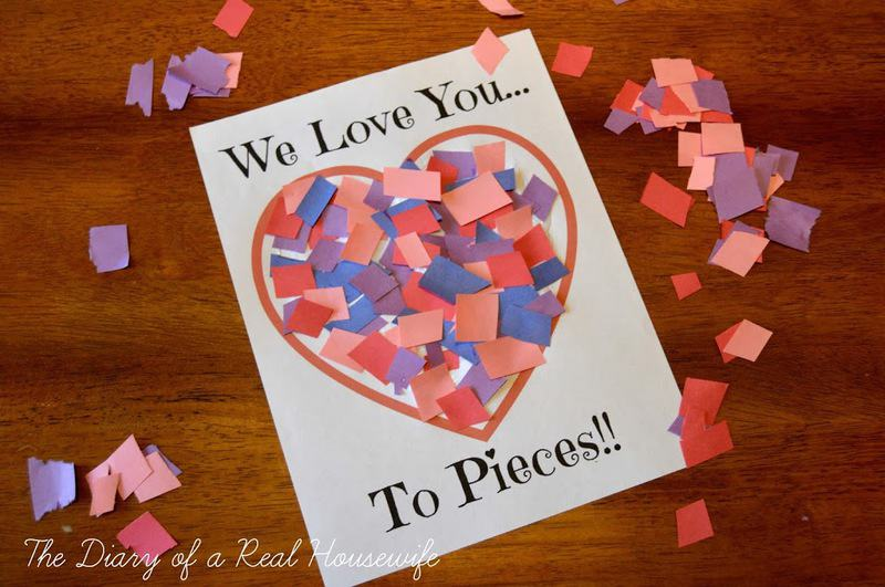 We Love You To Pieces finished craft