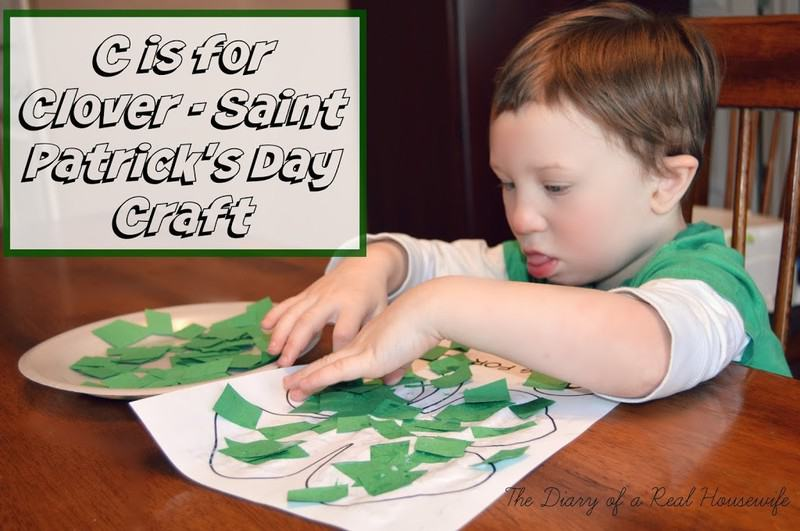 C is for Clover – Saint Patrick's Day Craft