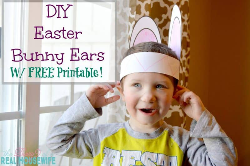 DIY Easter Bunny Ears – W/ Free Printable