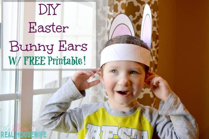 DIY Easter Bunny Ears – W/ Free Printable