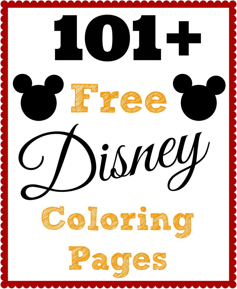 101 Free Printable Disney Coloring