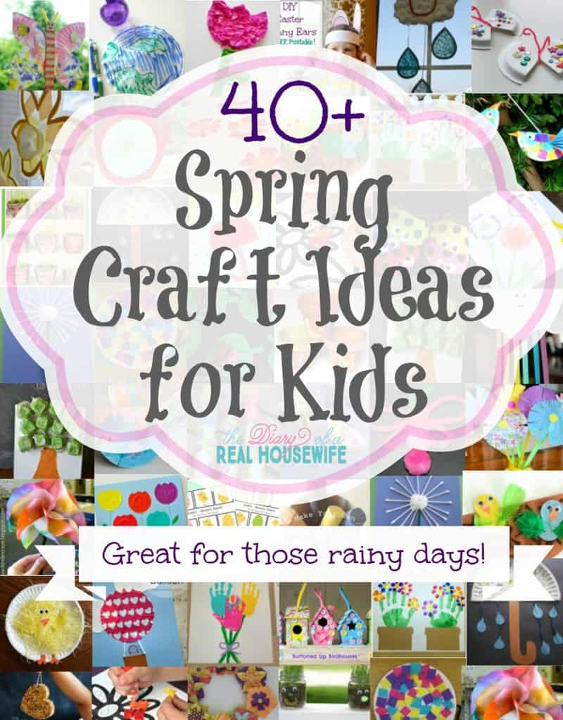Kids Spring Craft Ideas - The Diary of a Real Housewife