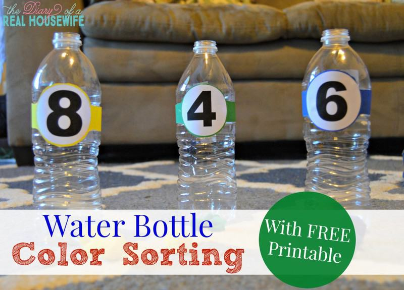 Water Bottle Color Shorting – Free Printable