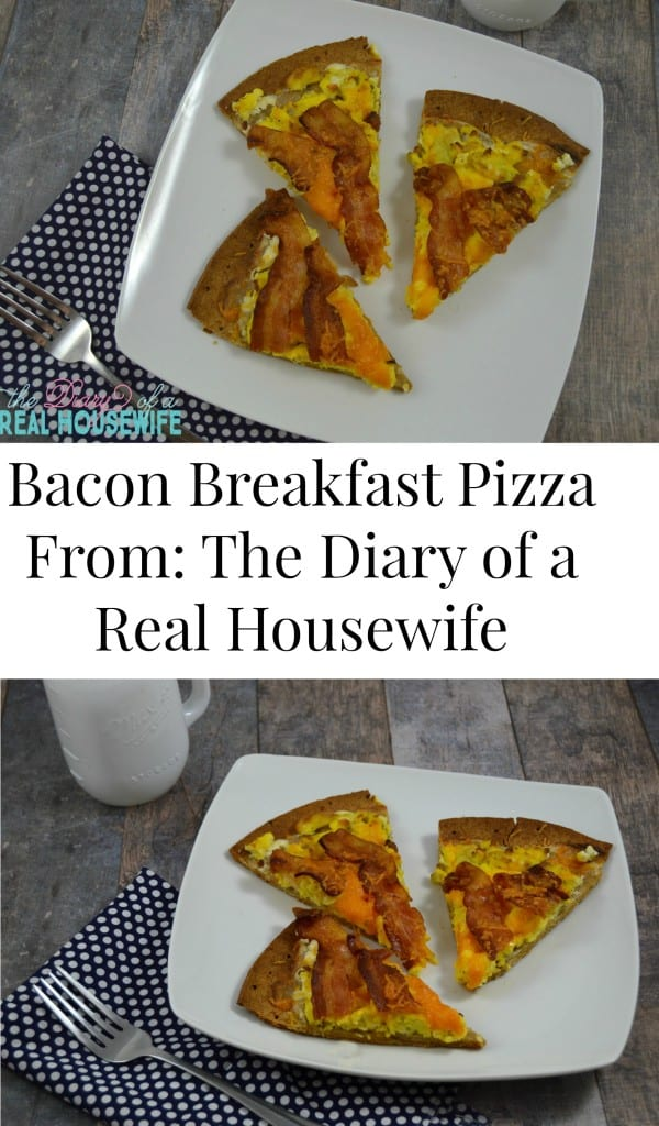 Bacon Breakfast Pizza! Pin it if you love it!