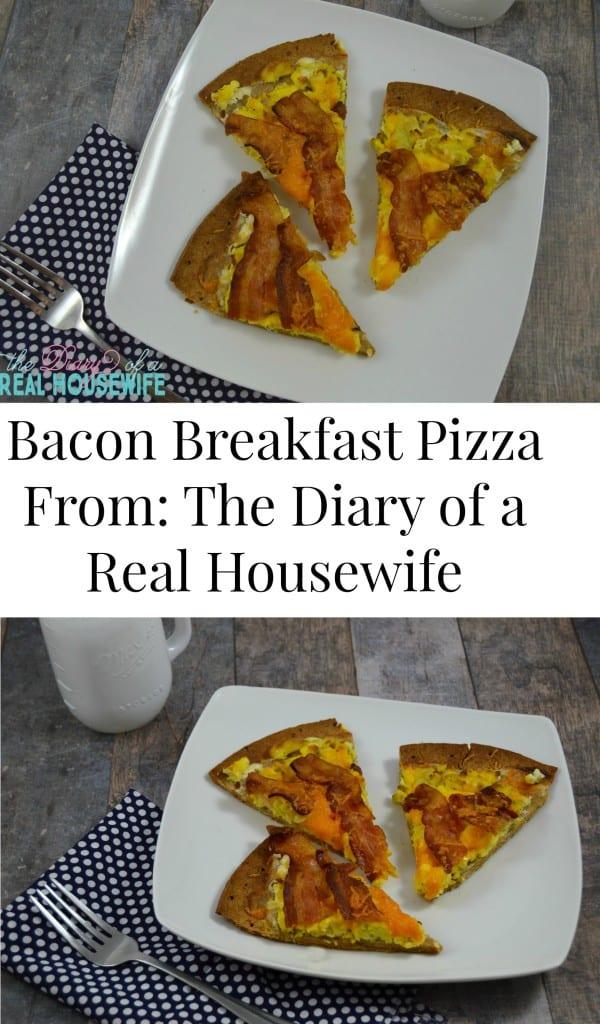Bacon Breakfast Pizza! Pin it if you love it!