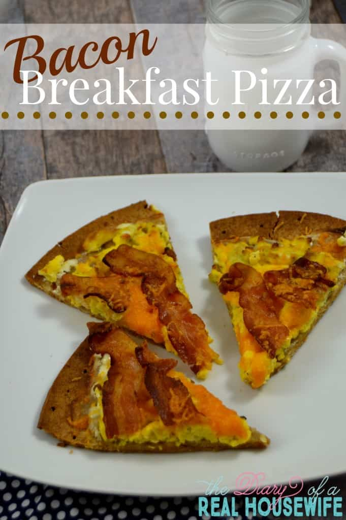 Bacon Breakfast Pizza. All of your favorite breakfast food in just one bite!