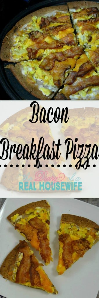 Bacon Breakfast pizza! My family loved this recipe!