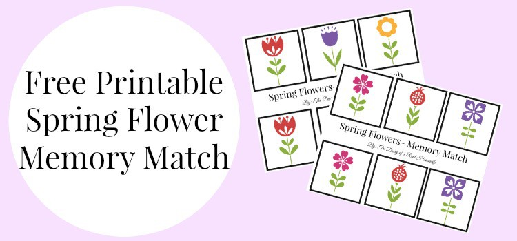 Free Printable Spring Flower Memory Match