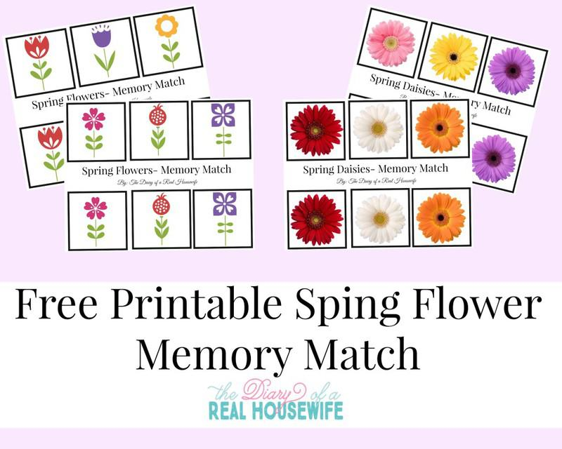 Free printable spring flower memory match the diary of a real free printable spring flower memory match mightylinksfo