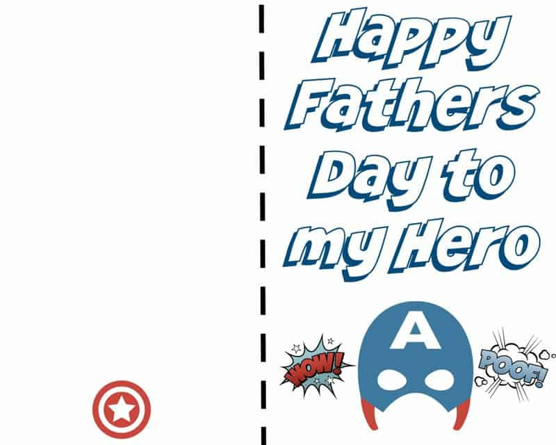 Fathers Day Card - Captain America