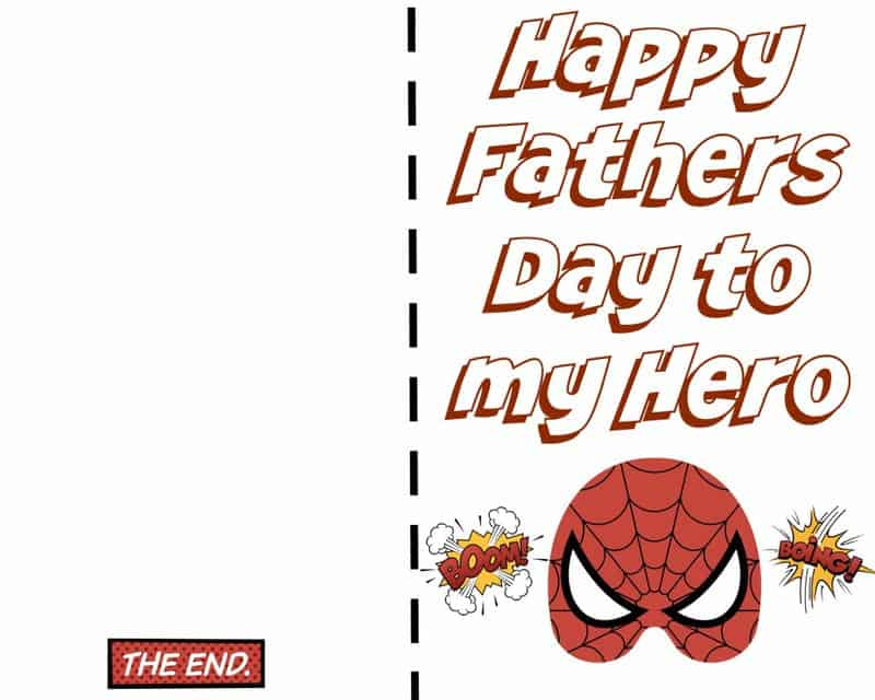 Fathers Day Card - Spiderman
