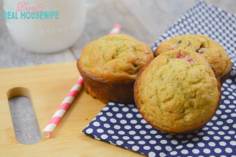 Great muffins for a breakfast! My kids love them. Strawberry banana muffins