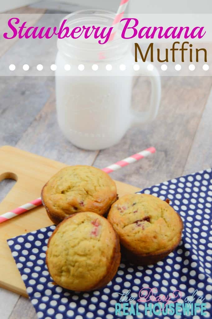 Strawberry Banana Muffins!