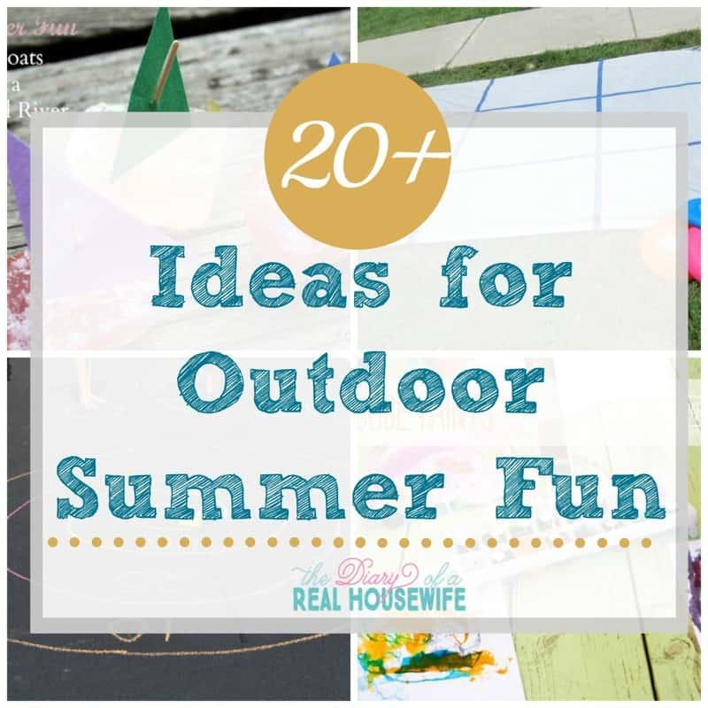 Fun outdoor summer fun ideas!