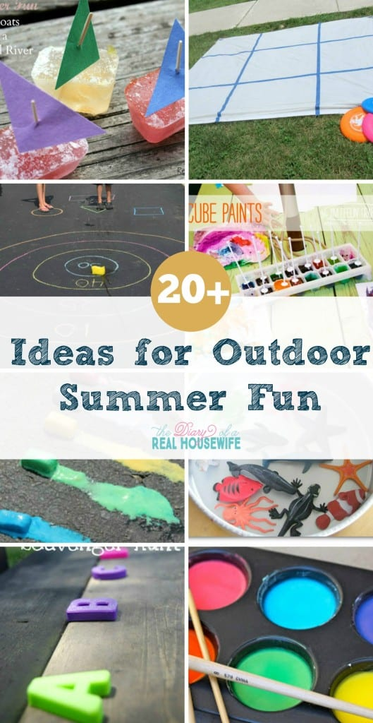 Great ideas for play outside! I love getting outside with the kids. Great ideas, pin these!