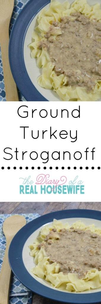 Ground turkey stroganoff recipe.