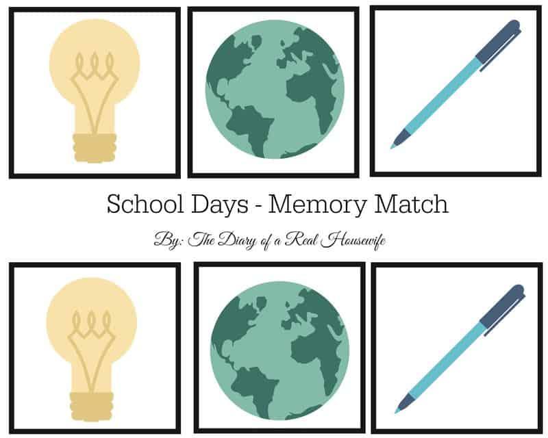 School days memory match