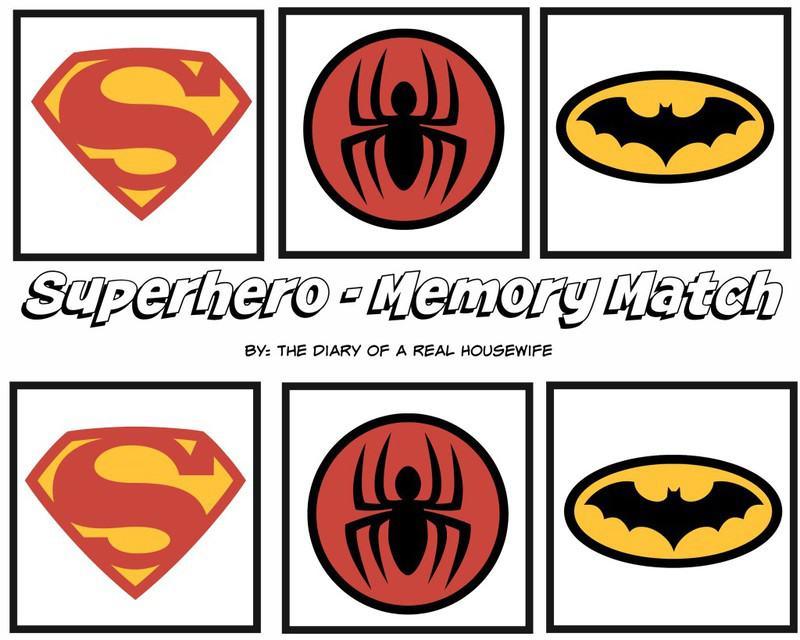 superhero memory match