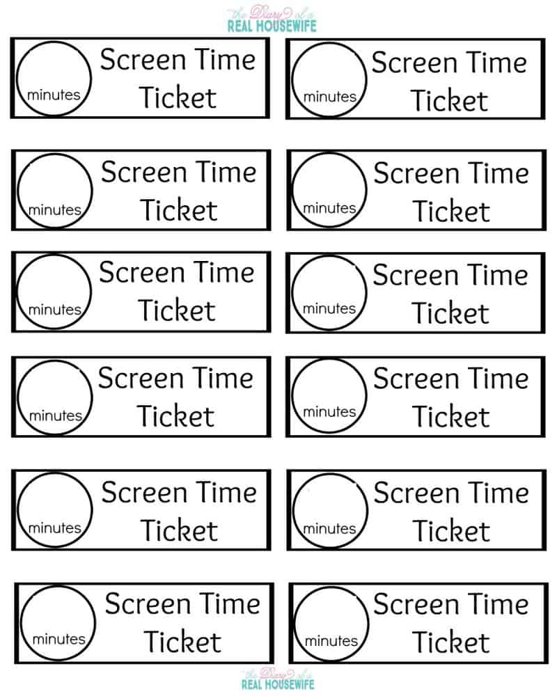 Blank Screen Time Tickets