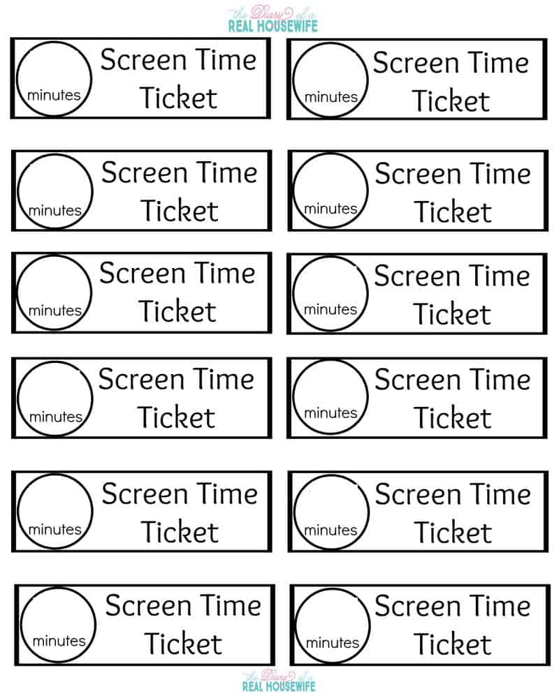 Printable blank tickets – Printable Event Tickets