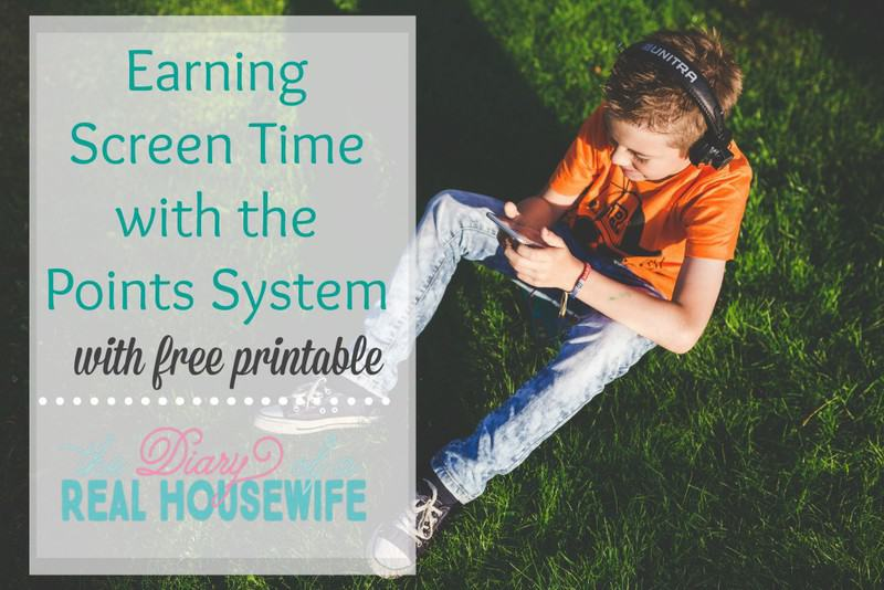 Earning Screen Time with the Point system