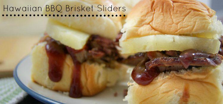 Hawaiian BBQ Brisket Sliders