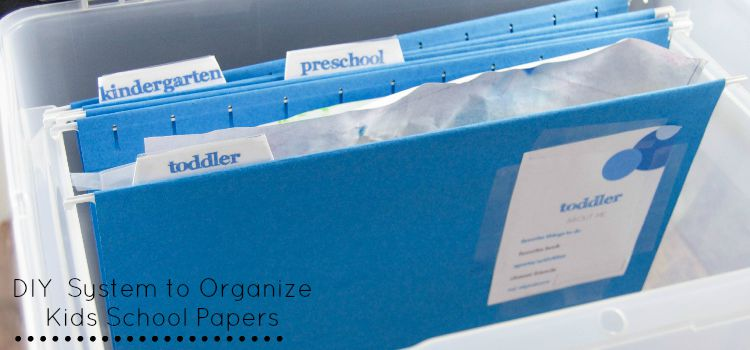 My Memory Box: DIY System to Organize Kids School Papers