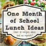 Featured Size - one month of school lunch ideas