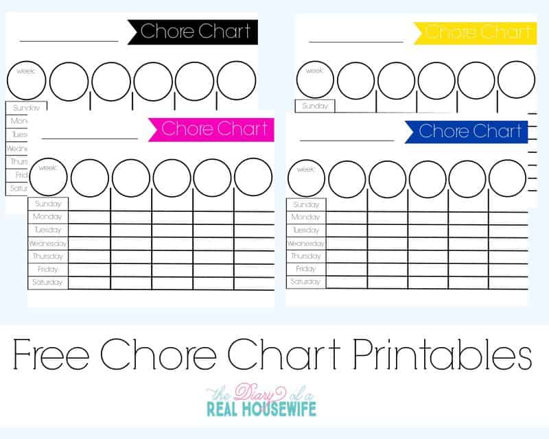 Free chore chart printables