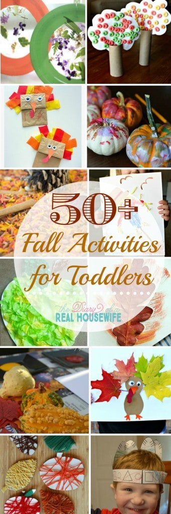 Great craft and activities for your toddler this fall!