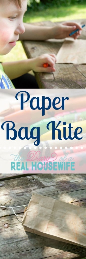 Paper Bag Kite. This is a fun craft for the kids.