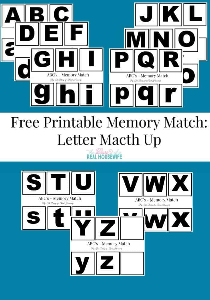 Pin it! Free printable memory match